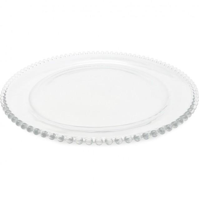PLATO CRISTAL PERLOA D33cm COTE TABLE